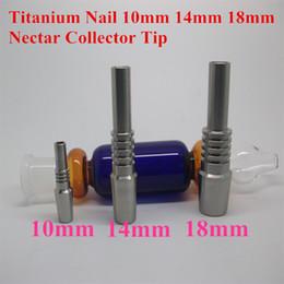 Wholesale smoking pipes uk - Titanium nail titanium smoking 10mm 14mm 18mm for water Pipe glass bong Smoking bongs pipes in stock DHL free to USA UK