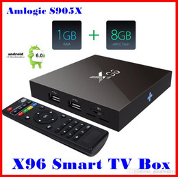 2019 dvb s2 media player Original X96 Amlogic S905X Quad Core Android 6.0 1 G / 8 G 4 K Smart Android caixa de TV PK MXQ Pro T95