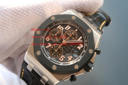 Wholesale Factory Leather Band - Factory Supplier Brand New AAA Quality Mens Quartz Chronograph Casual Watch Luxury Leather Strap Bands Men's Sport Wrist Watches Black Dial