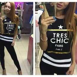 Wholesale New Brand Fashion Lady S - 2016 Brand New Summer Womens T Shirts Short Sleeve Tops Tees Tshirt Fashion For Women Ladies Paris Star Print t-shirts