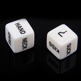 Wholesale Erotic Plastic - Wholesale- 1 Pair=2pcs Erotic Dice Game Toy For Bachelor Party Fun Adult Couple Sex Funny Novelty Product