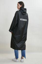 Wholesale Trench Coat Waterproof Woman - Fall-Men and Women Unisex oversized rain coat outerwear waterproof rain coat Size fits all trench