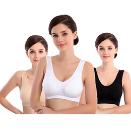 Wholesale Women Wearing Sexy Black Nylons - 13 colors Sexy Bra women yoga bra Slimming Underwear Seamless sports wear top quality
