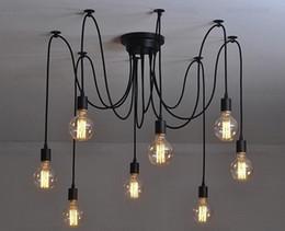 Антикварные потолочные светильники онлайн-Античный классический Эдисон люстра старинные промышленного лампа E27 подвеска лампа кофе бар освещение ретро потолка мансарды в загородном кухня столовая оптом-