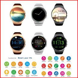 Круговые часы онлайн-Круглый экран пульсометра KW18 часы смарт-часы смарт-карты напоминание круглый экран Bluetooth Часы