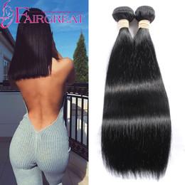 Wholesale Mongolian Weave Cheap - Peruvian Indian Malaysian Brazilian Mongolian Human Straight Hair Weave Bundles 2Pcs lot Cheap Human Hair Extensions Natural Color
