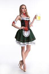 Wholesale Movies German - HOT SELL sexy Oktoberfest Wench Ladies Fancy Dress German Bavarian Beer Girl Womens Costume s350