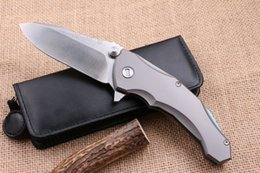 Wholesale Paring Knife Kitchen Tool - Medford Praetorian 2 ball bearing Flipper folding knife D2 Titanium handle camping hunting fruit paring kitchen knife EDC tools