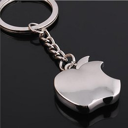 Wholesale Gift Souvenir Keychain Women - Apple Key Chain Classic Novelty Souvenir Metal Apple Keychain Creative Gifts Key Ring Trinket for Men Women Accept LOGO