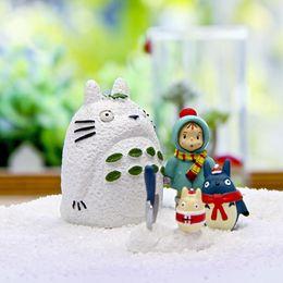 Wholesale Wholesale Fairy Dust - New Cute Cartoon Dust Wizard Black Totoro DIY Christmas Edition Winter Scarf Mei Fairy Garden Craft Decoration Miniature Micro Gnome Gift