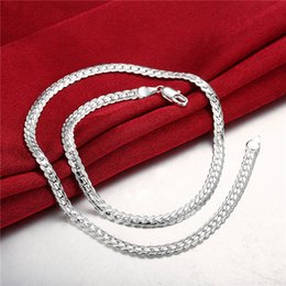 Wholesale Silver Snake Chain 5mm - New arrival '5MM whole side necklace sterling silver necklace STSN130,wholesale fashion 925 silver Chains necklace factory direct sale