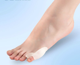 Wholesale Wholesale Cloves - 30pcs Toe Separator Corrective Insoles Feet Care Hallux Valgus Orthotics Toes Cloven Device Foot Massager Health Care