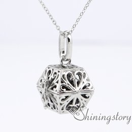 Wholesale Wholesale Nickle Plated Jewelry - nickle free openwork aromatherapy necklace essential oil jewelry wholesale make your own oil diffuser diffuser necklace for essential oils