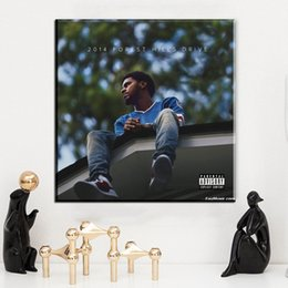 Wholesale Music Album Picture - ZZ1503 J Cole 2014 Forest Hills Drive Album Cover Rap Music Art Print Poster Canvas Painting Home Decor Wall Picture unframed