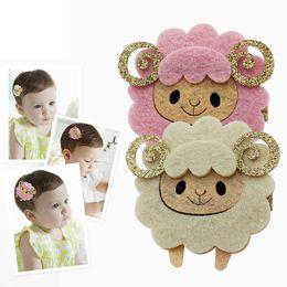 Wholesale Princess Hair Weave - 2017 New Kids Cartoon Non-woven Sheep Issuing cards Girls Headwear Princess Hair Clips Side clip Headdress SP-522