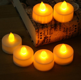 Wholesale Candle Work - CR2032 Battery operated Flicker Flameless LED Candle Lights Tealight 6 colors changeable working more than 72 hours replace battery Reuse