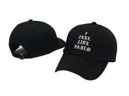 Wholesale Cotton Khaki Baseball Caps - I Feel Like Pablo Hats Baseball Caps 2016 Snapback Hats Hip Hop Fashion Sports Cap