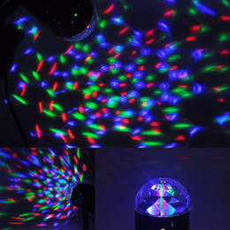Wholesale Home Moving - Disco Light Colorful DMX 3W DJ LED Auto Moving Head Rotating Stage Light RGB Crystal Evening lights