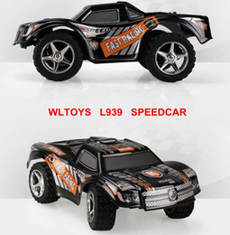 Wholesale Alloy Remote Control Car - Wholesale- RC Car Wltoys L939 2.4G 5 channel High-speed Remote Control Race Car with Scale Black Alloy Chassis Structure Racing Vehicle
