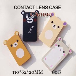 Wholesale Bearing Kit Set - FREE SHIPPING!wholesale CA0199 lovely bear cartoon shape with 2 pairs dualbox colorful contact lens case