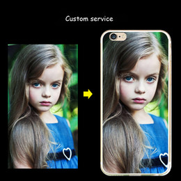 Wholesale Iphone5 S - 30pcs lot DHL DIY Cell Phone Cases Custom service For Apple iPhone5 s DIY by PC Silicone TPU 3D Emboss Cartoon Scenery Peoples batman Lovers