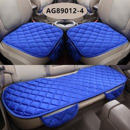 Wholesale Silk Cushion Cover Red - Winter Quality Soft Silk Velvet universal type auto accessories car accessory cushion seat covers for sedan