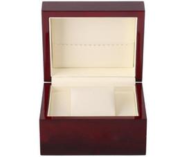 Logos gedruckt porzellan online-Lack-glänzender einzelner hölzerner Uhrenbox-Größe 13x11x8cm, Druck-Logo für Förderung-Ereignis-Clamshell-hölzerner Kasten-China-Kasten-Großverkauf-Verpackung