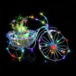 Wholesale Bend Homes - Wholesale- 1M 10 LEDs Copper Wire Silver String Fairy Light Bend Home Decor Colorful Bright