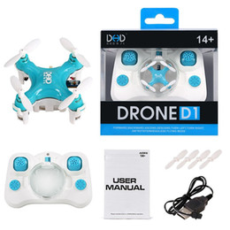 Wholesale Remote Instructions - DRONE D1 Ultra Mini Quadcopter 2.4G 4 Channel Remote Control UFO high quality Free DHL