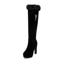 Wholesale Spikes Head - Real rabbit fur boots with new winter frosted leather round head their Japanese and Korean style boot The favorite of the most popular Europ