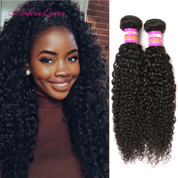 Wholesale Cheap Real Hair Extensions - Hair Extension Weft 2 Bundles Kinky Curly Real Human Hair Extensions Malaysian Kinky Jerry Curly Hair Weaves Very Cheap Kinky Curl Bundles
