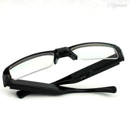 Wholesale Hd Spy Glass - Gold Glasses A300 1080P Super Mini DVR Slim Glasses HD Camera Eyewear Spy Sunglasses Cameras Hidden Camera