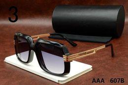 Wholesale Quality Eyeglasses - High quality 607B Sun glasses Eyewear Luxury Polarized Vintage Mens Womens Aviator Sunglasses Brand Designer Oversized Big Frame Eyeglasses