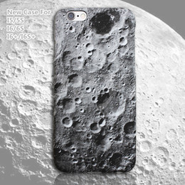 Wholesale I5 Black Cover - Moon Surface 3D Case Cover For iPhone 6 6s I5 5S iPhone 6 plus 6s plus New Design Popular Case Hot Sale