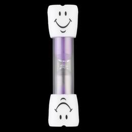 Wholesale Mini Clock Faces - Mini Smiling Smile Face Sandglass Hourglass Sand Clock Glass Timer 3 Minutes Fashion