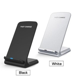 Wholesale quick stands - 2 Coils Fast Wireless Charger Qi Wireless Charging Stand Pad for iPhone X 8 8Plus Samsung Note 8 S8 S7 all Qi-enabled Smartphones