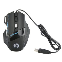Wholesale Optical Mouse Scroll Wheel - Computer Mice 3200DPI LED Optical 7 buttons with scroll wheel USB Wired Gaming Game Mouse 3200 DPI Pro Gamer Mice For PC