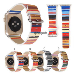 Wholesale Wholesale Striped Leather Watches - 2017 new watch strap striped Ape watch leather strap iwatch strap 38MM 42MM
