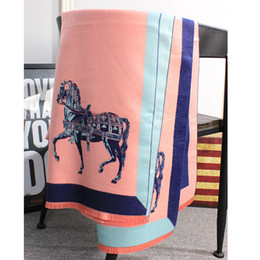 Wholesale Big White Scarf - Top qualtiy Imitation of cashmere horse design Scarf for women Big Size 180cm*55cm warp Pashmina Infinity Scarfs for womenThick Shawls