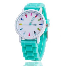 Wholesale Silicone Rubber Flower - wholesale flower face style dress geneva watch women rose gold color Fashion Watch women dress watches silicone rubber watches