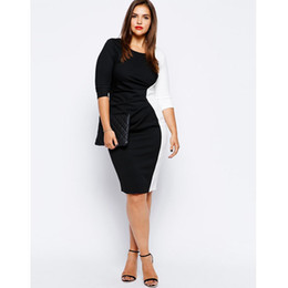 Wholesale Cheap Women Flare Dress - Cheap explosion of a large black and white dress code in Europe and America LYQ011