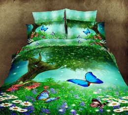 Wholesale Comforters Purple Green - Wholesale - Luxury 3d oil painting red flower bedding set queen 100%Cotton 4pcs comforter duvet covers bed sheet bedclothes set
