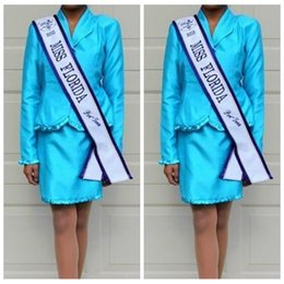 Wholesale Interview Suits For Girls - Cute Vintage Little Girls Pageant Dresses National Interview Suits Beauty for Girls Short Pageant Dresses Blue Kids Prom Gowns Teens For Kid