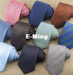 Wholesale Contrast Dress Men - Fashion Desinger Business Ties 7cm Wide For Men Contrast Jacquard Woven Dress Neck Adult Mens Tie Neckties Accessories Gift 20 Colors Sell