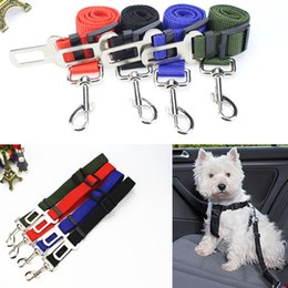 Wholesale Seat Cover For Pets Wholesale - 4 Color Adjustable Car Vehicle Safety Seatbelt Seat Belt Harness Lead For Cat Dog Pet Seat Cover 16-27 Inch Free DHL E800L