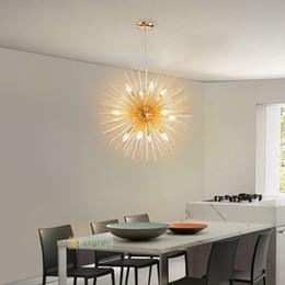 Wholesale Contemporary Art Metal - Europe gold Art Deco Led Pendant Lights Crystal Lighting Fixtures Modern Loft Pendant Lamp Metal Bar Restaurant E14 Socket