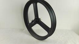 Wholesale 26 Inch Mountain Bike Wheels - free shipping 2016 26er 3 spokes carbon 26er fat bike wheels tubeless 26er 65mm 90mm fat bike wheels