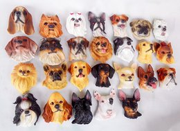 Wholesale Realistic Dog Toy - 3D Realistic Resin Dog Stereo Fridges Magnets Cute Flexible Fridge Magnets Cute Toys Promotional Gifts