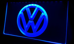 Wholesale Neon Light Sign Car - LS330-b Volkswagen-LED VW Car Logo Services Neon Light Sign Decor Free Shipping Dropshipping Wholesale 6 colors to choose