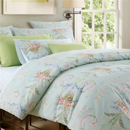 Wholesale Twin Size Green Comforters - Home textile Classic American country style 100% luxury Egyptian cotton 4pcs Bedding sets Pautas green ring size queen size